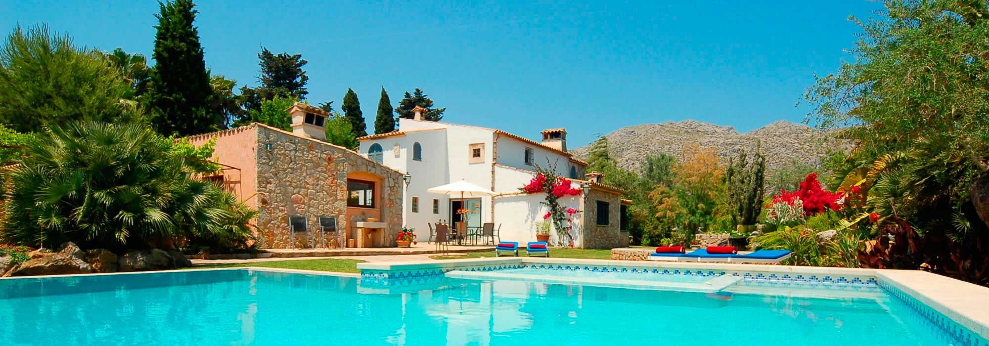 holiday mallorca villas to rent in pollensa. majorca.